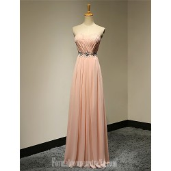 Australia Formal Dress Evening Gowns Pearl Pink Plus Sizes Dresses Petite A Line Strapless Long Floor Length Chiffon